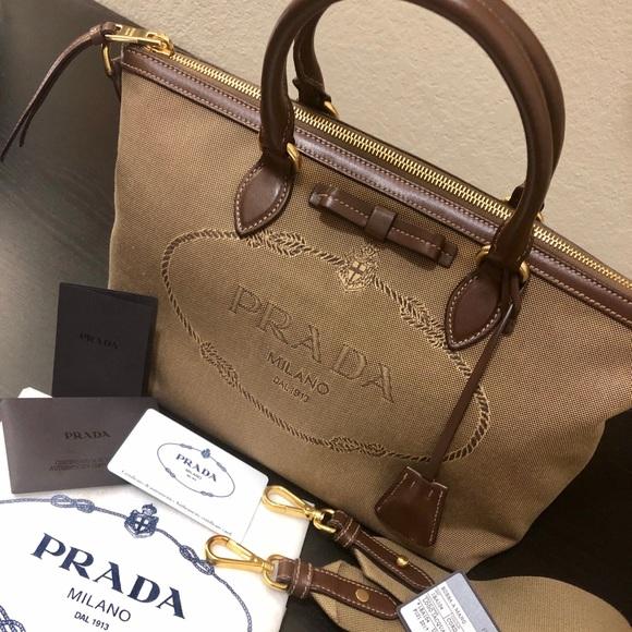 c3c451e04a67 Prada Bags | New Borsa A Mano Brown Satchel | Poshmark